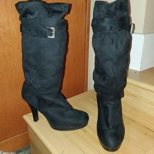 SBICCA Suede Knee High Heeled Boots